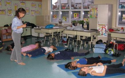 Yoga en classe